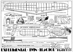Experimental Twin p1 model airplane plan