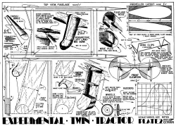 Experimental Twin p2 model airplane plan