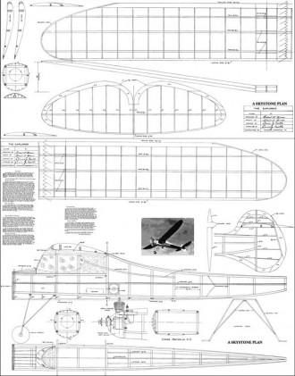 Explorer model airplane plan