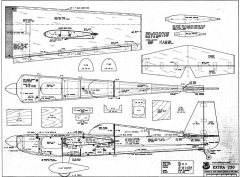 Extra230 model airplane plan
