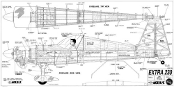 Extra 230 87in model airplane plan
