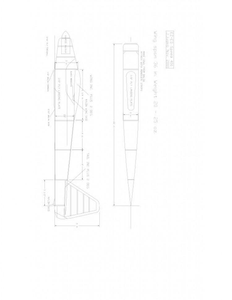 Ez-ed400 Model 1 model airplane plan