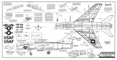 F-100 model airplane plan
