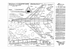 F-100 Super Sabre model airplane plan