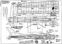 F-14 Tomcat CL model airplane plan