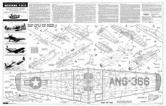 F-51H Mustang Jetco 3 pages model airplane plan