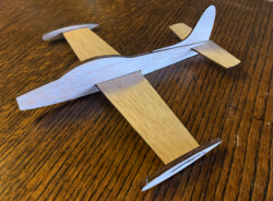 F-84 Chuck Glider model airplane plan
