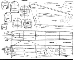 F-86-1 model airplane plan