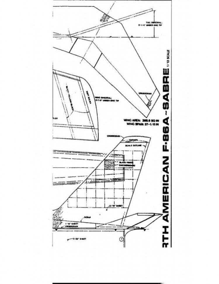 F-86-2 model airplane plan