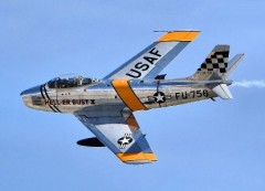 F-86 Sabre model airplane plan