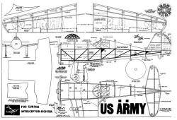 F-95 Curtiss model airplane plan