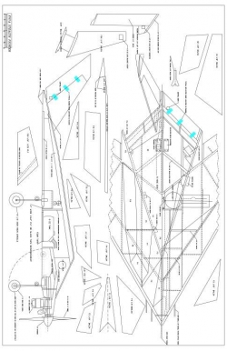 F117 STEALTH Model 1 model airplane plan