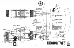 F4F-3 15in model airplane plan