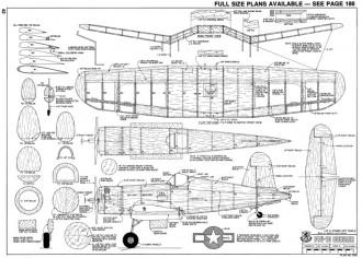 F4U-1D Corsair-RCM-06-77 690 model airplane plan