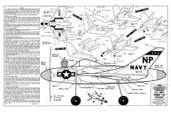 F7U Cutlass model airplane plan
