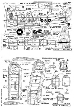F8C-1 Curtiss model airplane plan