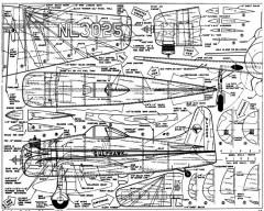 F8F-Bearcat American Modeler Feb 1961 model airplane plan