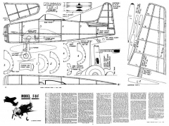 F8F model airplane plan