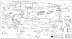 F8F Bearcat model airplane plan