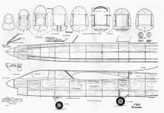 F8U 2N Crusader p2 model airplane plan