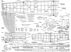 FAI Viking model airplane plan