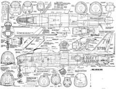 FJ-3 Fury model airplane plan