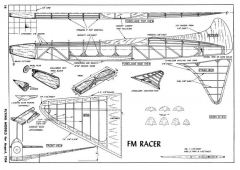 FM Racer-FM-08-54 model airplane plan