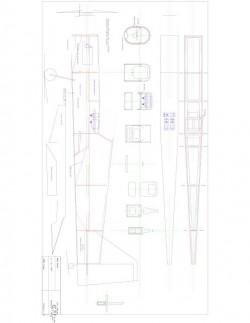 FUSMP Model 1 model airplane plan
