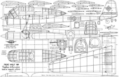 FW-189 model airplane plan