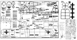FW-198 Megow model airplane plan