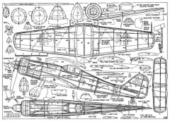 FW190-d9 model airplane plan