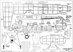 FW 47 Jumbo Rubber model airplane plan