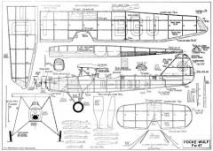 FW 47 Jumbo Rubber model airplane plan