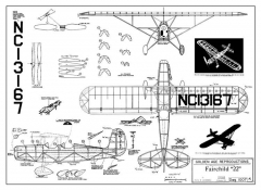 Fairchild 22 model airplane plan