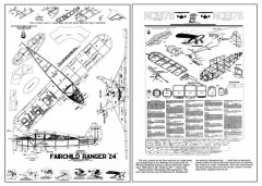 "Fairchild Ranger ""24"" model airplane plan"