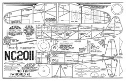 Fairchild 45 model airplane plan