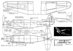 Fairchild 46 model airplane plan