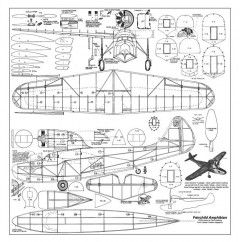 Fairchild Amphibian model airplane plan