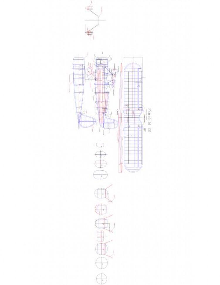 Fairchild 22 Model 1 model airplane plan