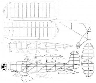 Fairchild 22 bowers model airplane plan