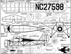 Fairchild F24G ModernisticModels model airplane plan