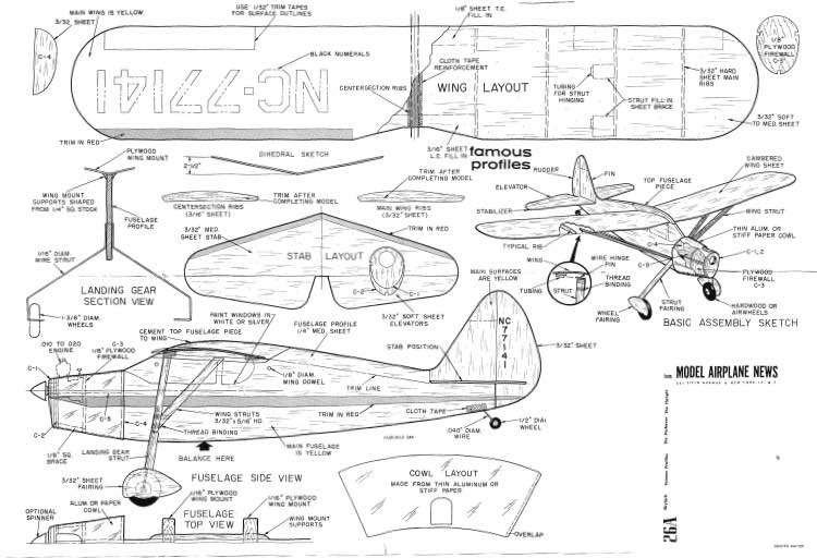 Fairchild F-24K model airplane plan