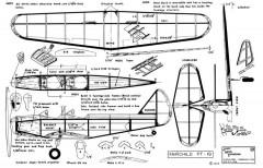 Fairchild PT-19-Janick model airplane plan