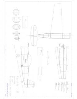 Fairchild T31 Model 1 model airplane plan