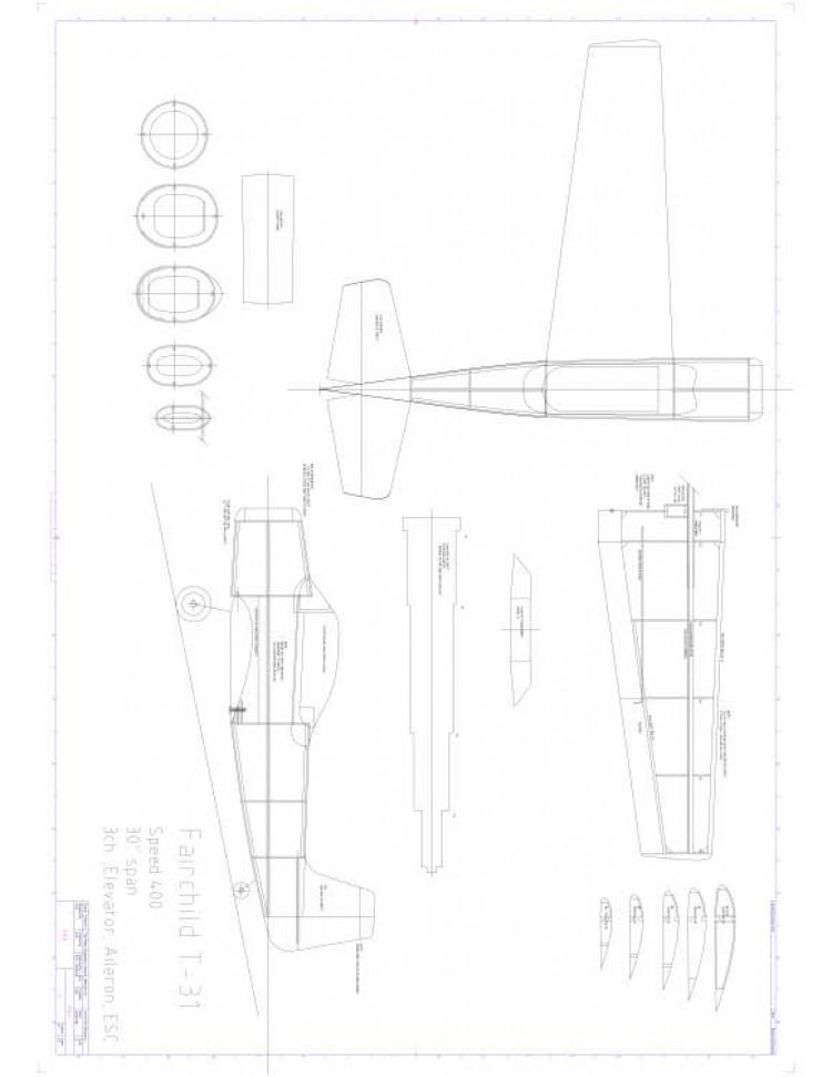 Fairchild T31 Model 1 model airplane plan