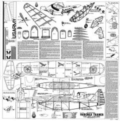 Fairchild Trainer model airplane plan