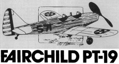 Fairdchild PT-19 model airplane plan