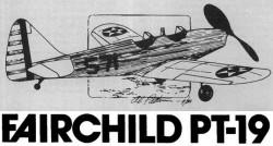 Fairdchild PT-19 model airplane plan