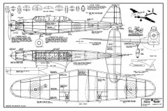 Fairey Battle model airplane plan