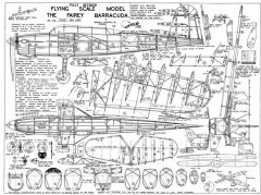 Fairey Barracuda model airplane plan